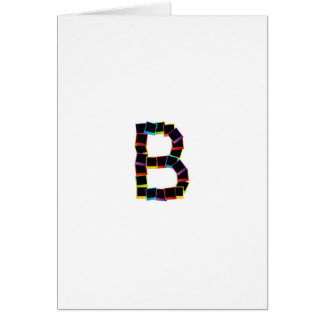 Alphabet B with colorful Card