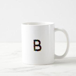 Alphabet B with colorful Coffee Mug
