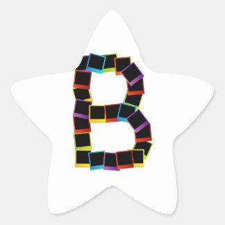 Alphabet B with colorful Star Sticker