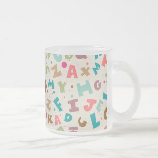 Alphabet Background Mugs
