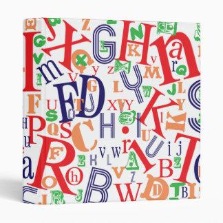 Alphabet Binder White