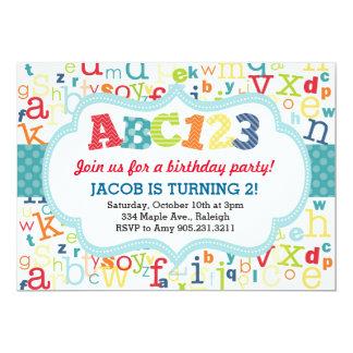 Alphabet Birthday Party Invitation