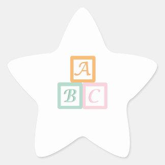 Alphabet Block Star Sticker