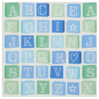 Alphabet fabric zazzle for Modern childrens fabric