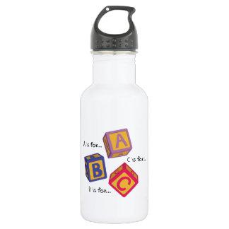 Alphabet Blocks 18oz Water Bottle