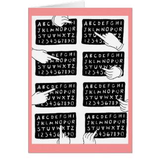 alphabet board greeting card