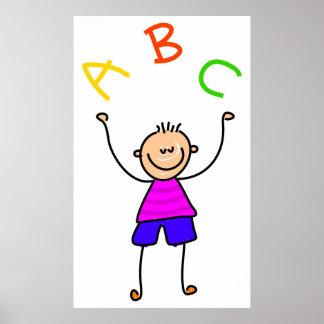 Alphabet Boy Poster
