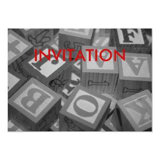 Alphabet Building Blocks Invitation