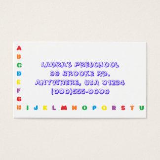 """""""Alphabet""""  Business Cards"""