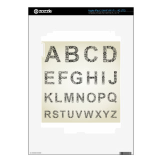 Alphabet business decals for iPad 3
