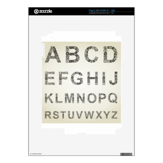 Alphabet business decals for the iPad 2