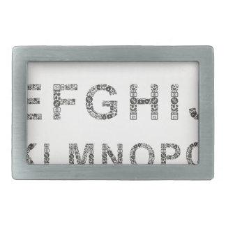 Alphabet business rectangular belt buckle