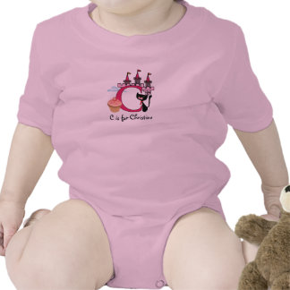 Alphabet C for girls T-Shirt - add your name