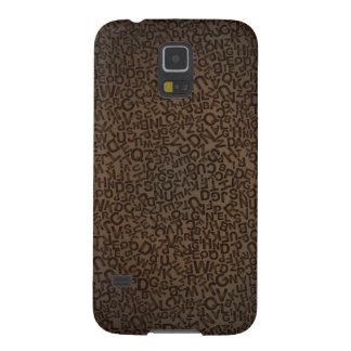 Alphabet Characters Font Letters Brown Pattern Case For Galaxy S5