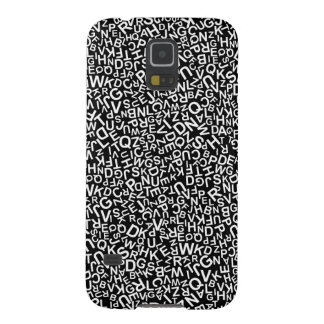 Alphabet Characters Font White Letters Pattern Galaxy S5 Case