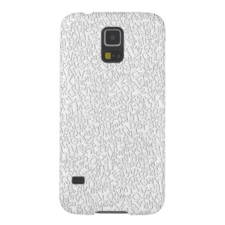 Alphabet Characters Font White Letters Pattern Galaxy S5 Cases