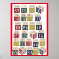 Alphabet Chart Extra Large Colored Blocks