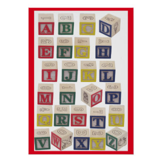 Alphabet Chart Extra Large Colored Blocks