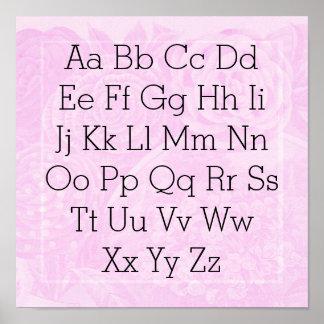 Alphabet chart Princess pink rose