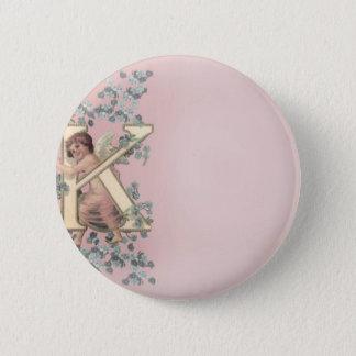 Alphabet Cherub Button