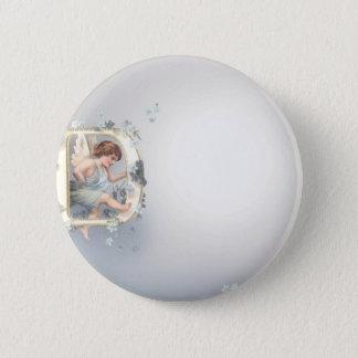 Alphabet Cherub Pinback Button