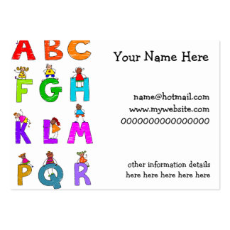 Alphabet Children Large Business Cards (Pack Of 100)