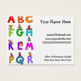 Alphabet Children Business Card