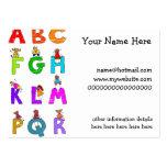 Alphabet Children Business Cards