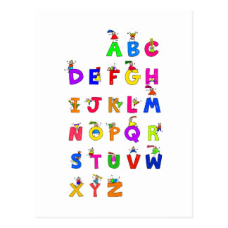 Alphabet Children Postcard