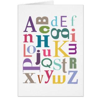 Alphabet Chowder Card