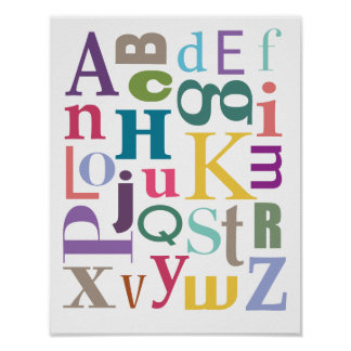 Alphabet Chowder Poster