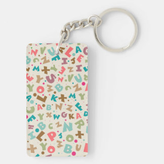 Alphabet Chunky Letters Pattern Keychain