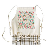 Alphabet Chunky Letters Pattern Zazzle HEART Apron