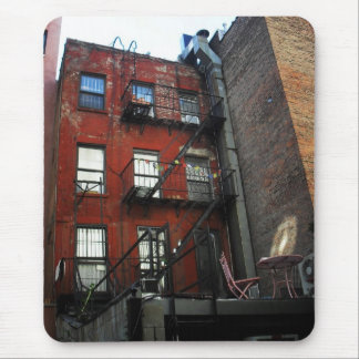 Alphabet City Backyard, East Village, NYC Mouse Pad