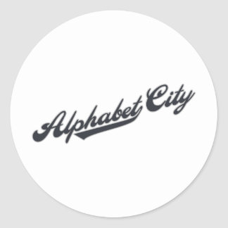 Alphabet City Classic Round Sticker