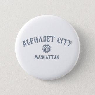 Alphabet City Pinback Button