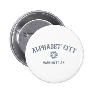 Alphabet City Pinback Button