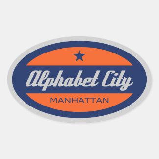 Alphabet City Oval Sticker