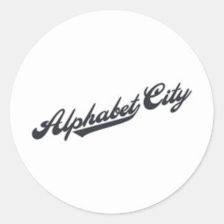 Alphabet City Classic Round Sticker