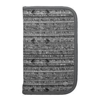 Alphabet Code Moblie Zip Folio Organizer