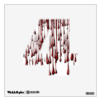 Alphabet Decal -Bloody Drips (Add Background Color Wall Graphics