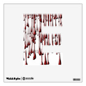 Alphabet Decal - Bloody Drips (You Add Color) Wall Decal