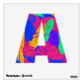 Alphabet Decal - Groovy Paint Colors and Music