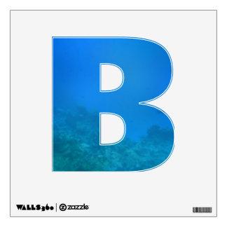 Alphabet Decal - Underwater Ocean