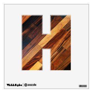 Alphabet Decal - Wooden Floor Slats