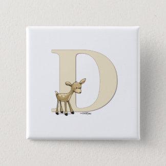 Alphabet Deer Button