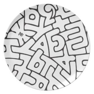 Alphabet Dinner Plate