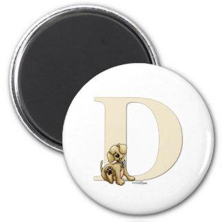 Alphabet Dog 2 Inch Round Magnet