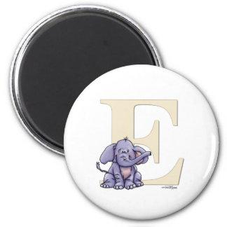 Alphabet Elephant 2 Inch Round Magnet