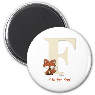 Alphabet Fox Gifts for baby 2 Inch Round Magnet